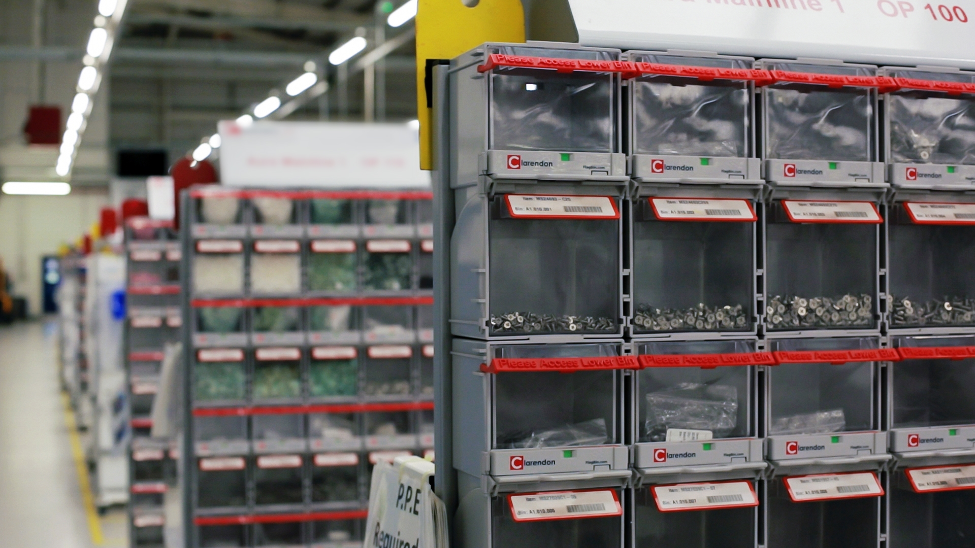 Automatic Inventory Replenishment Rfid Twin Bin System